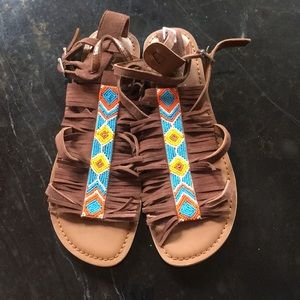 Beaded Moccasin Sandals